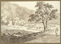 View of the burying ground, Gaya (Bihar). 27 February 1823